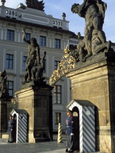 richard-nebesky-two-guards-in-front-of-the-gate-to-prague-castle-hradcany-czech-republic