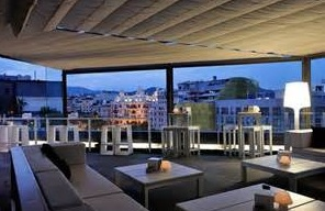 Covered roof top bar