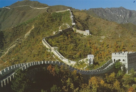 Great Wall on moutain ridge 2