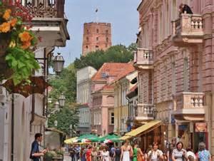 Pedristria street in Vilnius