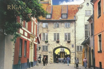 Riga town walkway